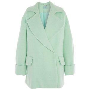 🆕 Topshop unique oversized mint green swing coat